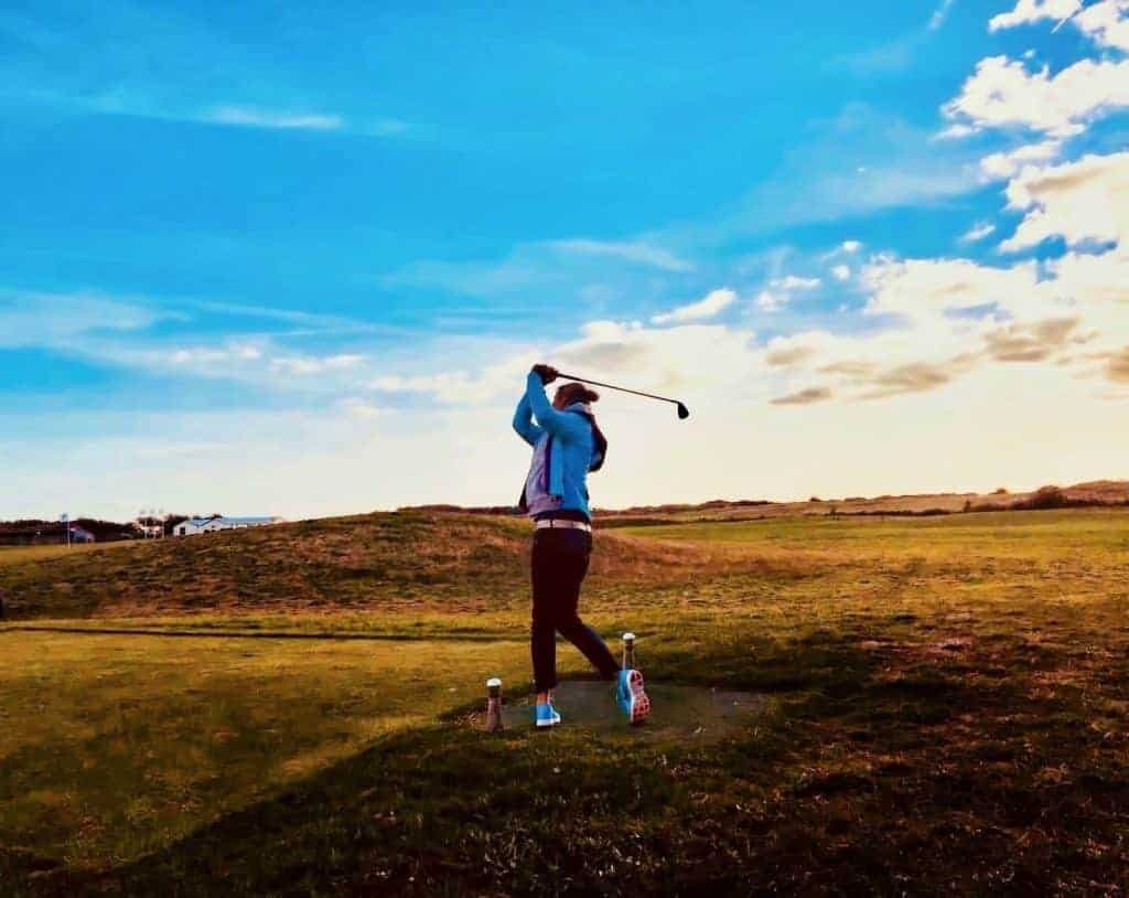 Flogolf Home texel teeing off